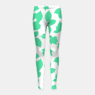Botanical Motif Print Pattern Girl's leggings thumbnail image