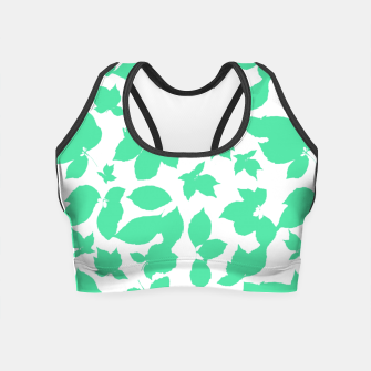 Botanical Motif Print Pattern Crop Top thumbnail image