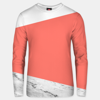 Marble Coral living Geometry Unisex sweater thumbnail image