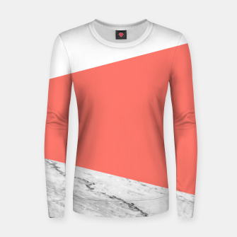 Marble Coral living Geometry Women sweater thumbnail image