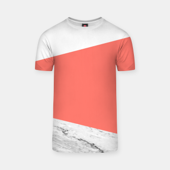 Marble Coral living Geometry T-shirt thumbnail image
