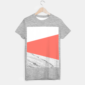 Marble Coral living Geometry T-shirt regular thumbnail image