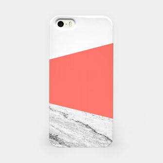 Marble Coral living Geometry iPhone Case thumbnail image