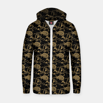 Chinese fish Zip up hoodie thumbnail image