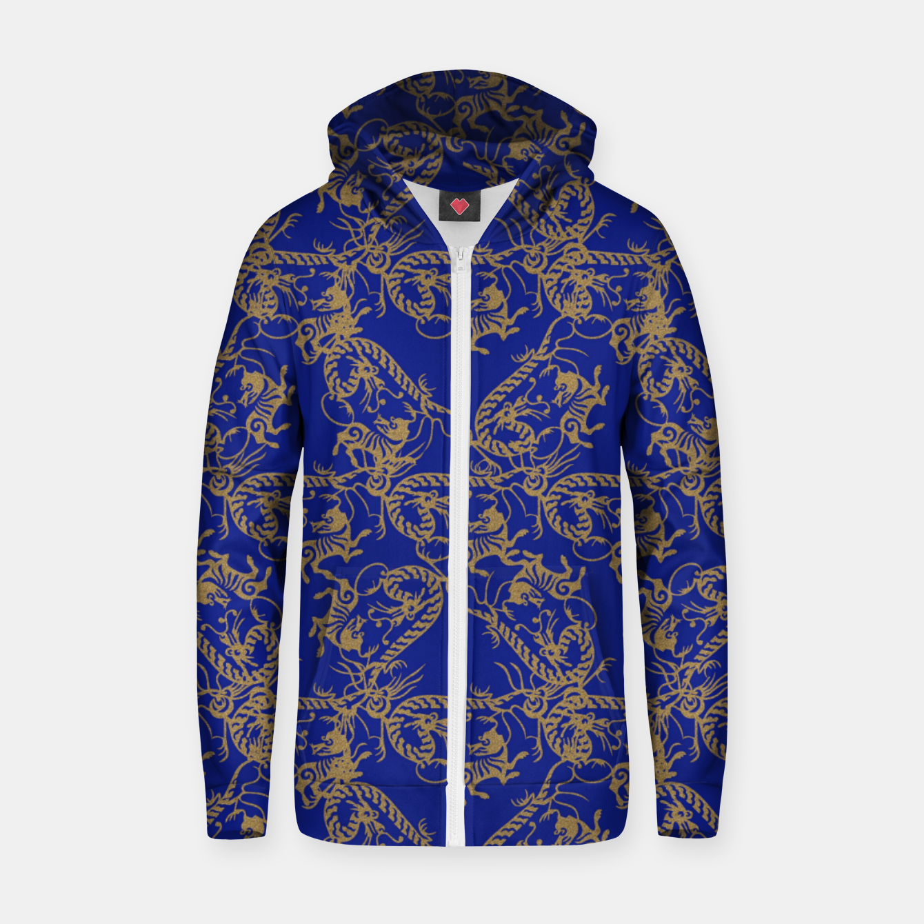 Image of  Chinese dragon and tiger Zip up hoodie - Live Heroes