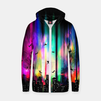 Thumbnail image of Without Gravity Zip up hoodie, Live Heroes