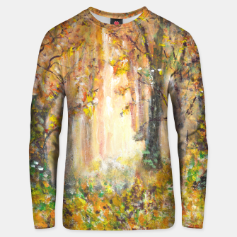 Thumbnail image of Magical Forest 600dpi scan of original acrylic art Unisex sweater, Live Heroes