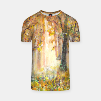 Miniatur Magical Forest 600dpi scan of original acrylic art T-shirt, Live Heroes