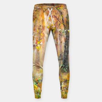 Thumbnail image of Magical Forest 600dpi scan of original acrylic art Sweatpants, Live Heroes