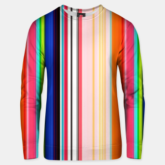 Thumbnail image of Colorful Bold Stripe Print Unisex sweater, Live Heroes