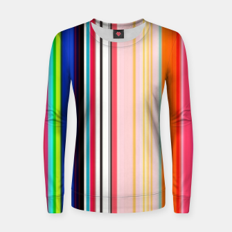 Thumbnail image of Colorful Bold Stripe Print Women sweater, Live Heroes