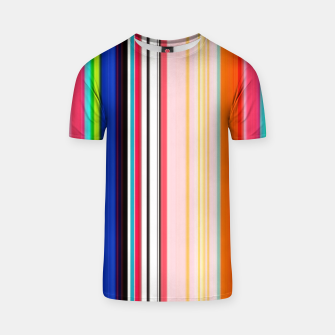 Thumbnail image of Colorful Bold Stripe Print T-shirt, Live Heroes