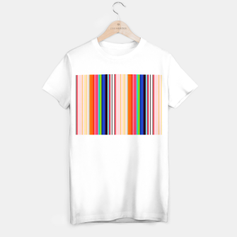 Imagen en miniatura de Colorful Bold Stripe Print T-shirt regular, Live Heroes