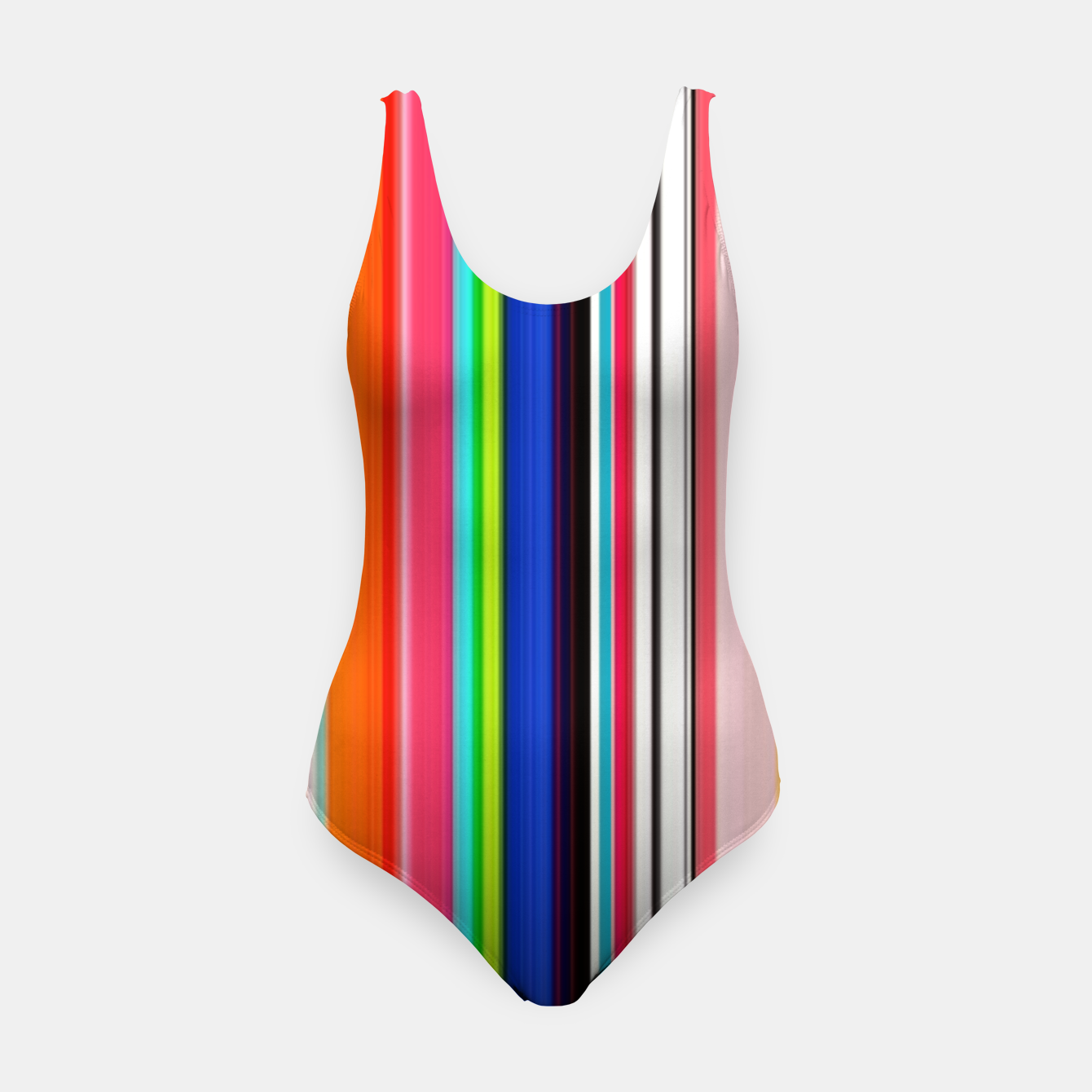 Image of Colorful Bold Stripe Print Swimsuit - Live Heroes