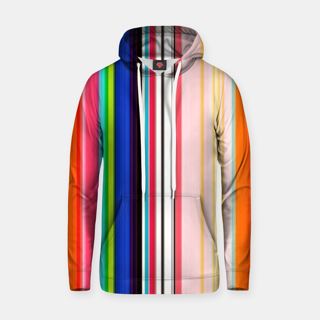 Image of Colorful Bold Stripe Print Hoodie - Live Heroes