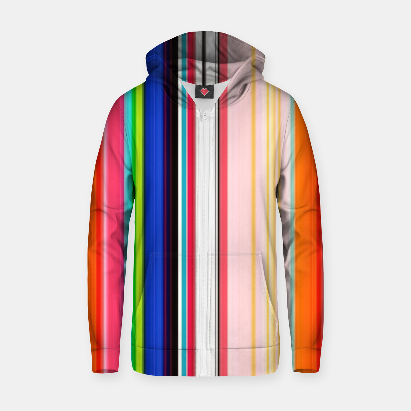 Image of Colorful Bold Stripe Print Zip up hoodie - Live Heroes