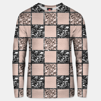 Blush Check Glitter Glam #2 #geometric #decor #art  Unisex sweatshirt thumbnail image