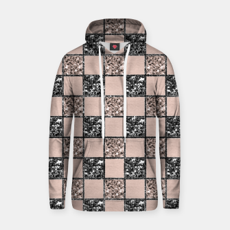 Thumbnail image of Blush Check Glitter Glam #2 #geometric #decor #art  Kapuzenpullover, Live Heroes