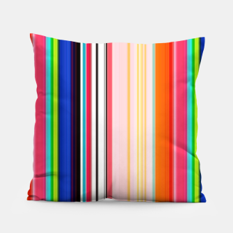 Thumbnail image of Colorful Bold Stripe Print Pillow, Live Heroes