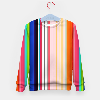 Thumbnail image of Colorful Bold Stripe Print Kid's sweater, Live Heroes