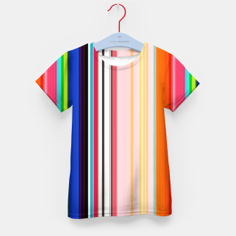 Thumbnail image of Colorful Bold Stripe Print Kid's t-shirt, Live Heroes