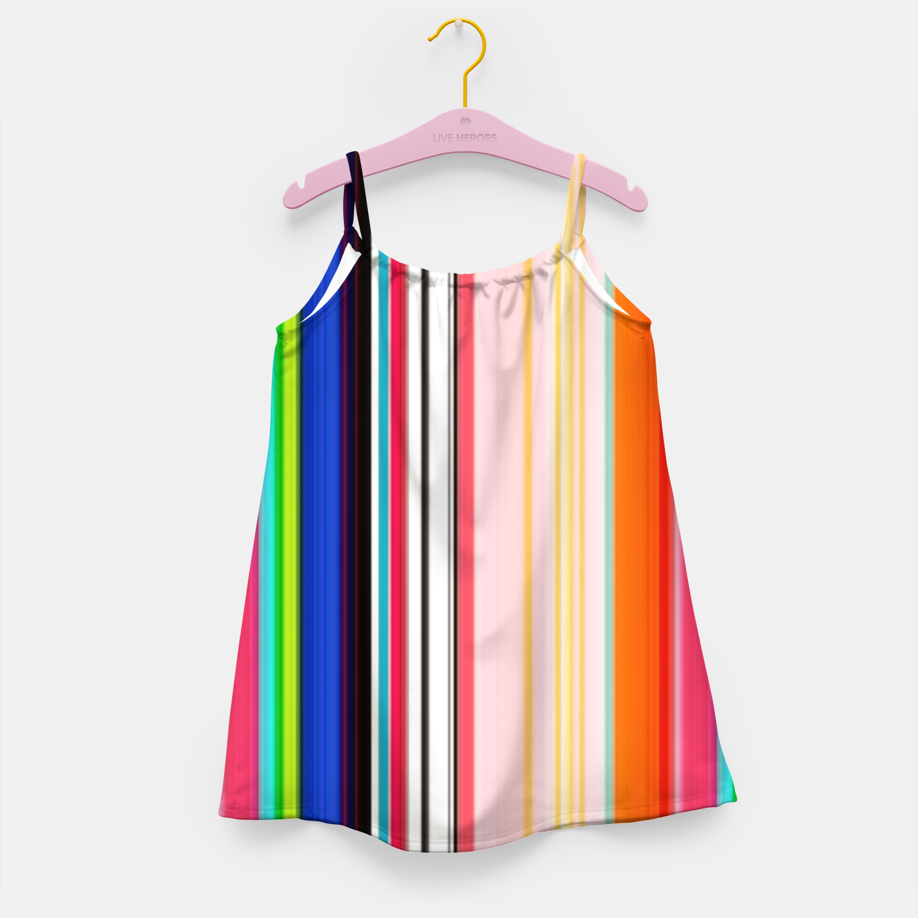 Image of Colorful Bold Stripe Print Girl's dress - Live Heroes