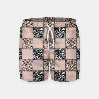 Thumbnail image of Blush Check Glitter Glam #2 #geometric #decor #art  Badeshorts, Live Heroes