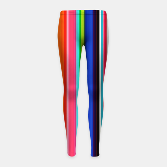 Thumbnail image of Colorful Bold Stripe Print Girl's leggings, Live Heroes