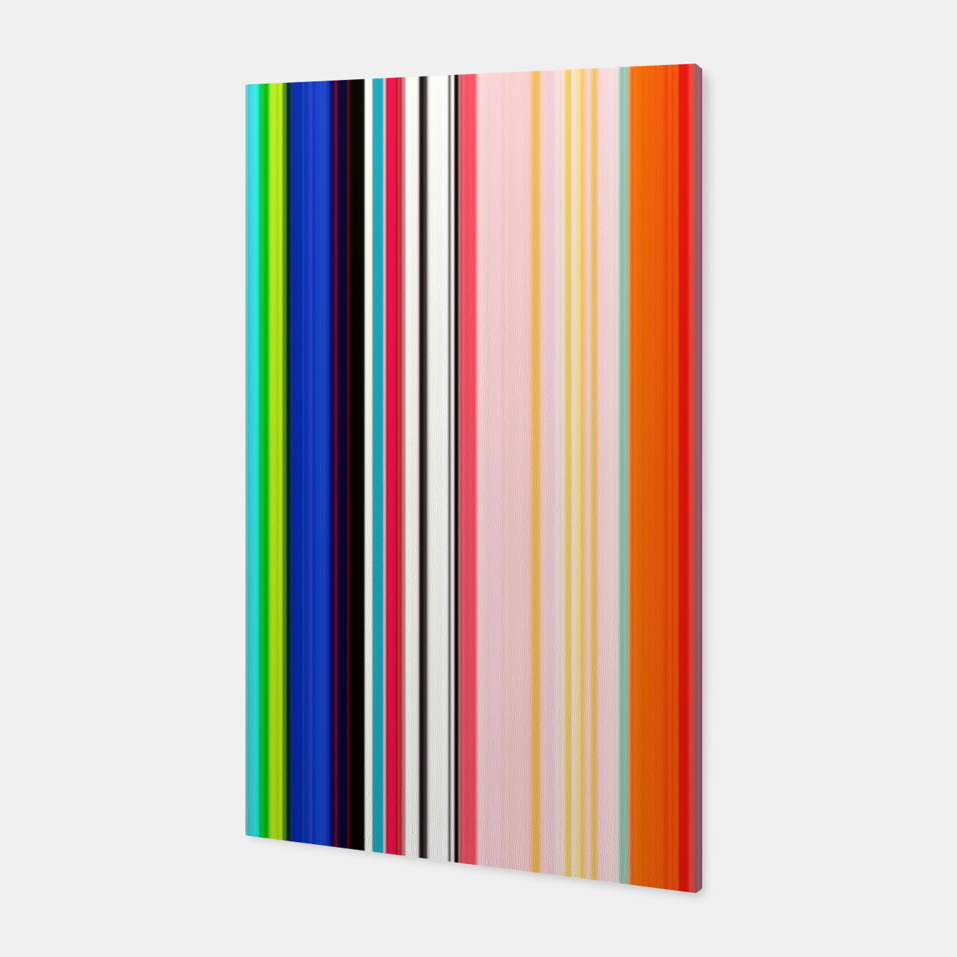 Image of Colorful Bold Stripe Print Canvas - Live Heroes