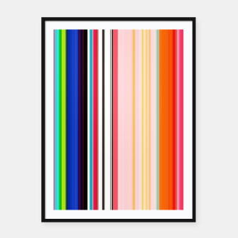 Thumbnail image of Colorful Bold Stripe Print Framed poster, Live Heroes