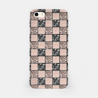 Thumbnail image of Blush Check Glitter Glam #2 #geometric #decor #art  iPhone-Hülle, Live Heroes