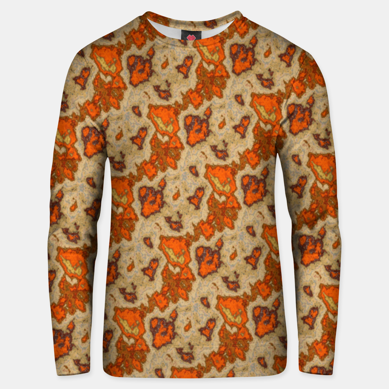 Image of Earthy Tones Animal Skin Pattern Unisex sweater - Live Heroes
