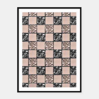 Thumbnail image of Blush Check Glitter Glam #2 #geometric #decor #art  Plakat mit rahmen, Live Heroes