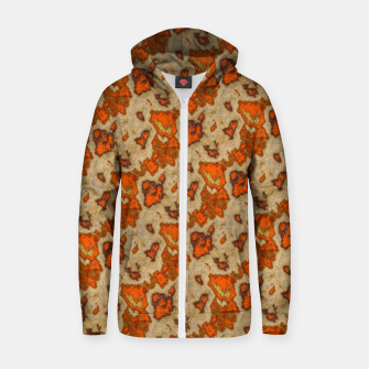 Earthy Tones Animal Skin Pattern Zip up hoodie thumbnail image
