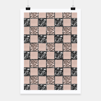 Blush Check Glitter Glam #2 #geometric #decor #art  Plakat thumbnail image
