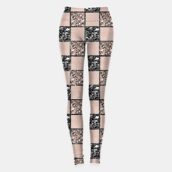 Blush Check Glitter Glam #2 #geometric #decor #art  Leggings thumbnail image
