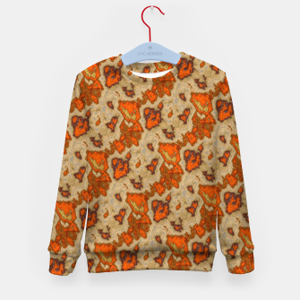 Thumbnail image of Earthy Tones Animal Skin Pattern Kid's sweater, Live Heroes