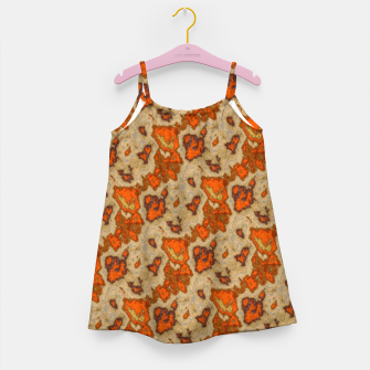 Earthy Tones Animal Skin Pattern Girl's dress thumbnail image