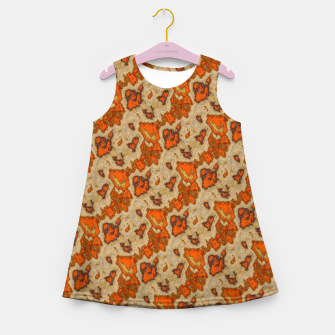 Thumbnail image of Earthy Tones Animal Skin Pattern Girl's summer dress, Live Heroes