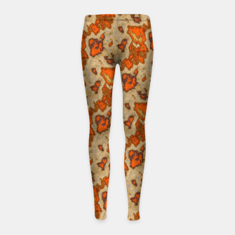 Earthy Tones Animal Skin Pattern Girl's leggings thumbnail image