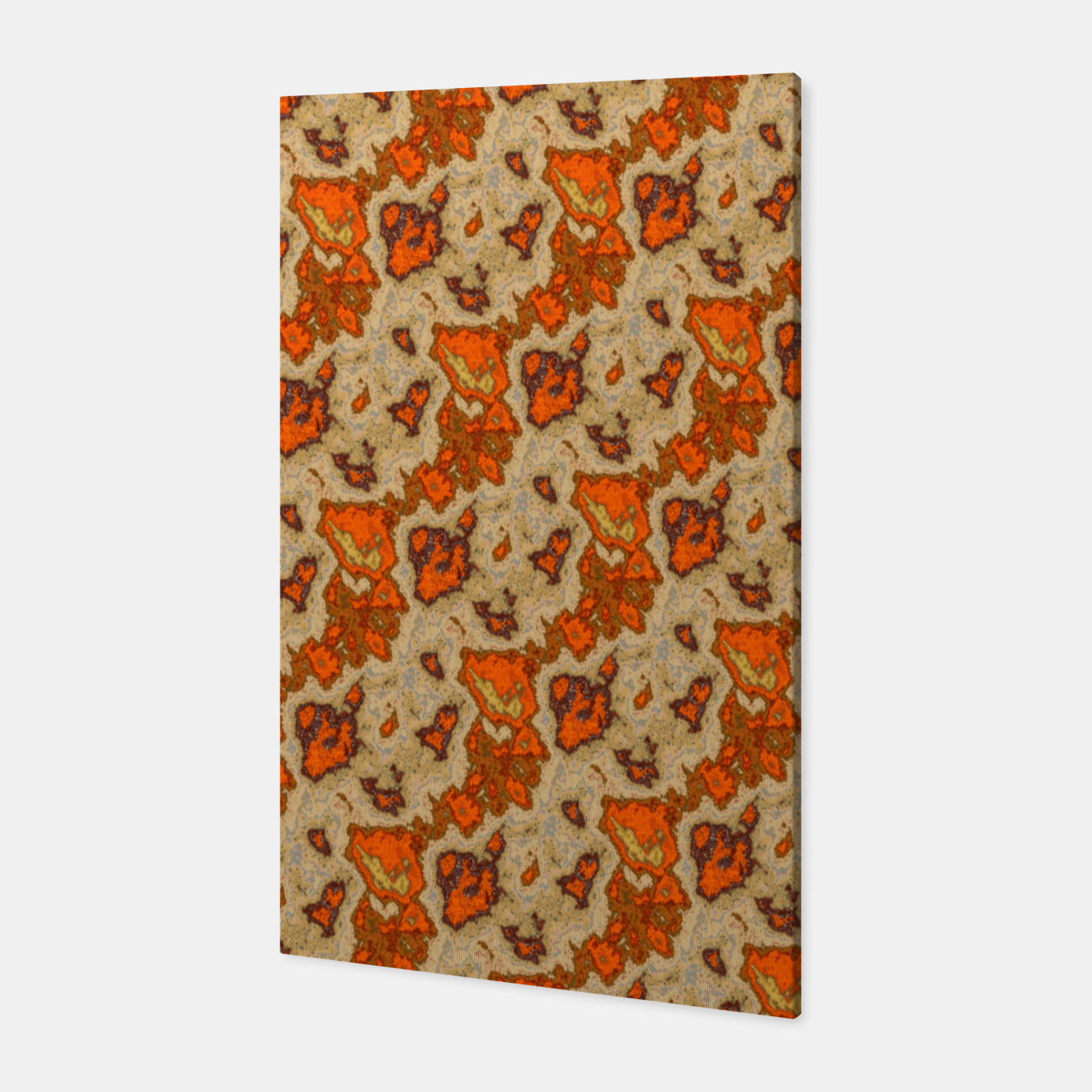 Image of Earthy Tones Animal Skin Pattern Canvas - Live Heroes