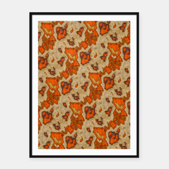 Earthy Tones Animal Skin Pattern Framed poster thumbnail image