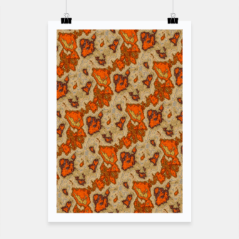 Earthy Tones Animal Skin Pattern Poster thumbnail image