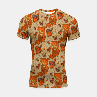 Thumbnail image of Earthy Tones Animal Skin Pattern Shortsleeve rashguard, Live Heroes