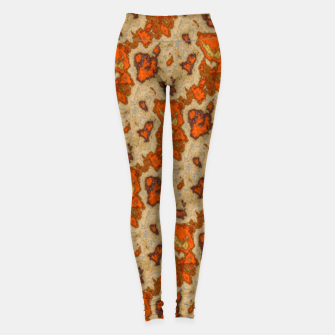 Thumbnail image of Earthy Tones Animal Skin Pattern Leggings, Live Heroes
