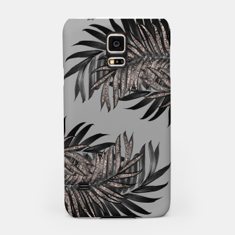 Gray Black Palm Leaves with Rose Gold Glitter #5 #tropical #decor #art  Handyhülle für Samsung thumbnail image