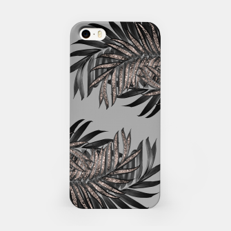 Gray Black Palm Leaves with Rose Gold Glitter #5 #tropical #decor #art  iPhone-Hülle thumbnail image