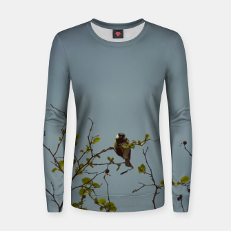 Great tit on a branch Women sweater thumbnail image