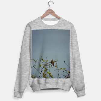 Great tit on a branch Sweater regular thumbnail image