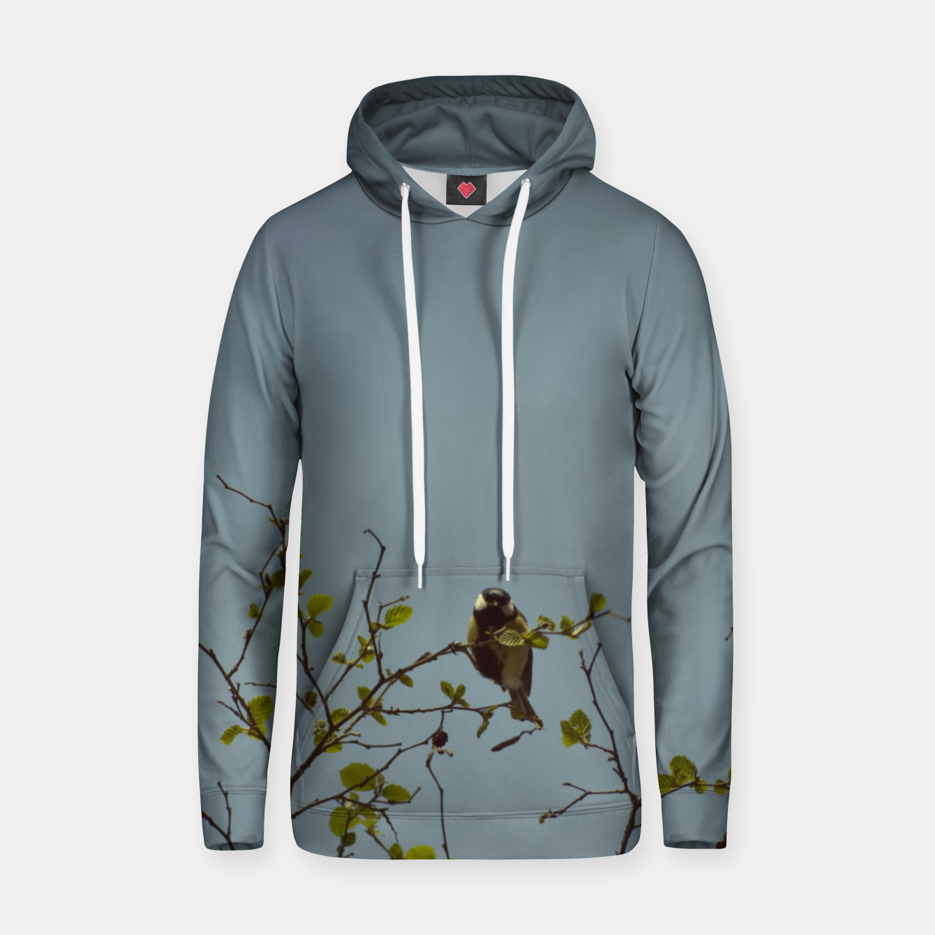 Image of Great tit on a branch Hoodie - Live Heroes
